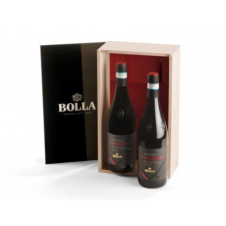 BOLLA RHETICO Amarone della Valpolicella Classico DOCG-wooden box 2x0,75