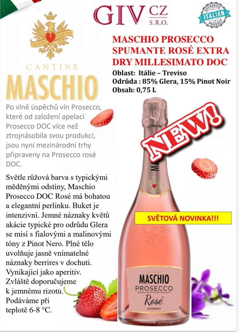 Maschio Prosecco Rosé novinka